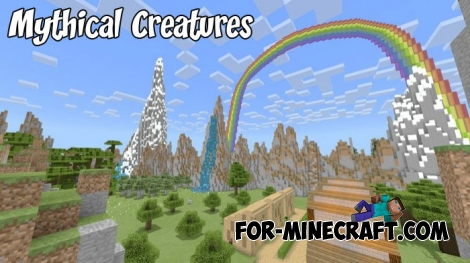 Mythical Creatures addon + map (Minecraft 1.8)