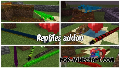 Reptiles addon for Minecraft BE 1.8+