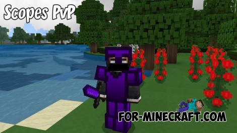 Scopes PvP texture pack for MCBE 1.6/1.8