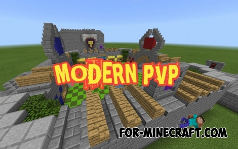 Modern PvP map v2.0 for MCPE 1.7/1.9