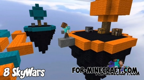8 SkyWars maps for Minecraft BE 1.8/1.9+