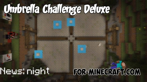 Umbrella Challenge Deluxe map for MCBE 1.8/1.9