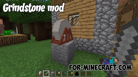 Grindstone mod for Minecraft BE 1.9+