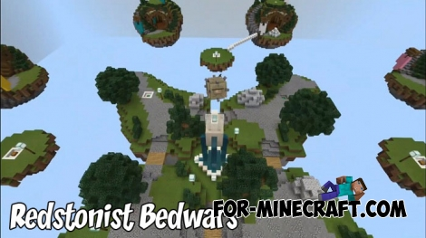 Redstonist Bedwars map for MCBE 1.8/1.9