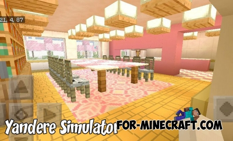 Yandere Simulator map for Minecraft PE