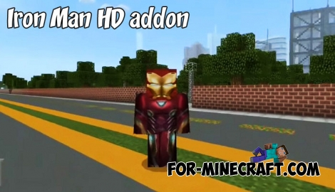 Iron Man HD addon for Minecraft BE 1.8/1.9