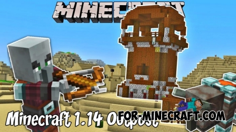 Minecraft 1.14 Outpost map for MCBE 1.9