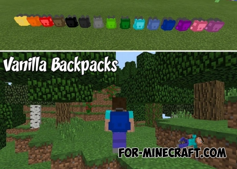Vanilla Backpacks addon v2 (Minecraft BE 1.9+)
