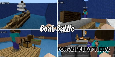 Boat Battle map for Minecraft PE 1.X