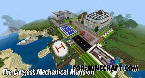 The Largest Mechanical Mansion for MCBE 1.9
