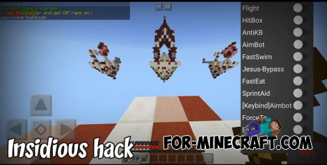Insidious hack for Minecraft PE 1.2/1.5