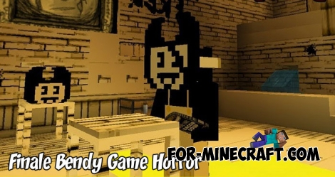 Finale Bendy Game Horror map (MCBE 1.7/1.9)