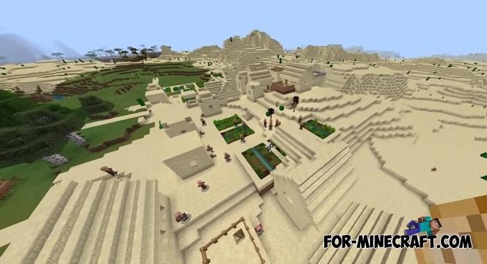 TOP 3 Village seeds for Minecraft PE 1 7/1 9