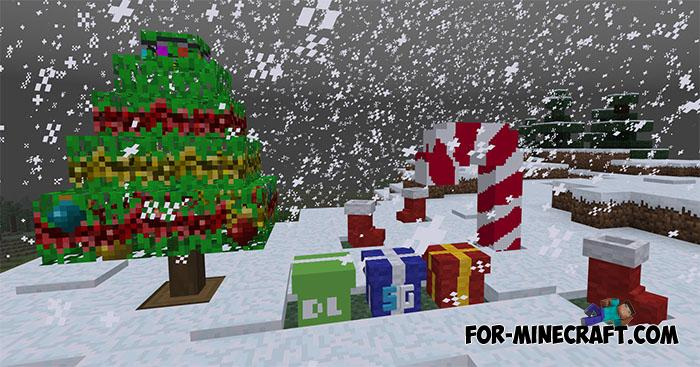 Christmas Minecraft Decorations.Xmas Decorations Addon For Minecraft Pe 1 9