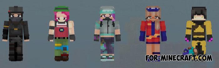 Hd Fortnite Skin Pack For Mcpe 19