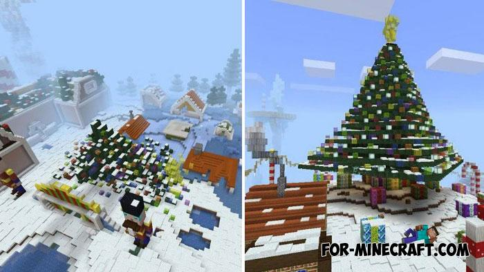 Minecraft Christmas Map.Xmas Battle Royale Map For Minecraft Pe 1 9