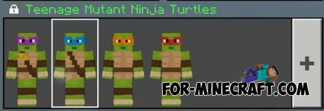 Ninja Turtles skin pack for Minecraft PE 1.9+