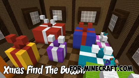 Xmas Find The Button map for MCPE 1.9