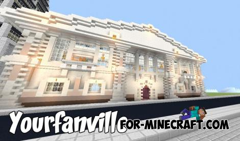 Yourfanville map for Minecraft PE 1.9