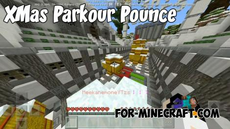 XMas Parkour Pounce map for Minecraft PE