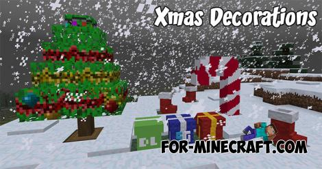 Xmas Decorations addon for Minecraft PE 1.9