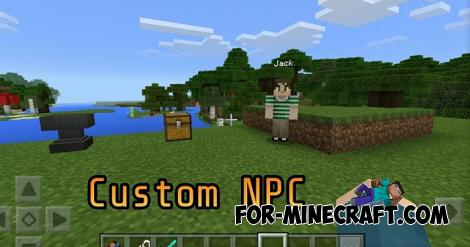 NPC Addon for Minecraft PE 1.8+