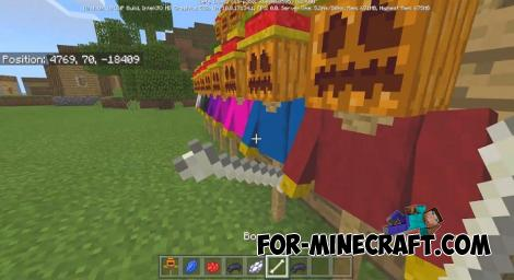 Scarecrows Addon for MCPE 1.9