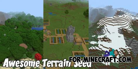Awesome Terrain Seed for MCPE 1.8+
