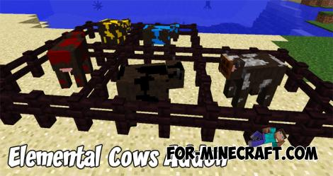 Elemental Cows Addon for Minecraft PE