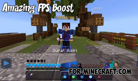 Amazing FPS Boost Texture Pack for MCPE 1.9