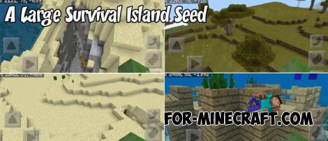 A Large Survival Island Seed for MCPE 1.8+