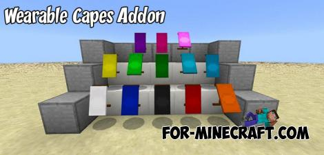 Wearable Capes Addon for Minecraft PE 1.9