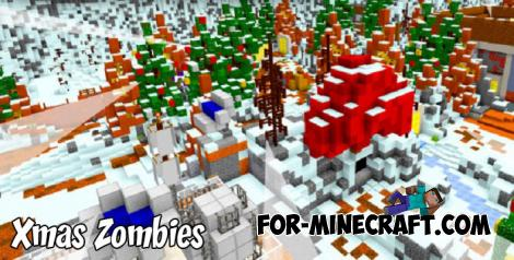 SkyGames Xmas Zombies Map for Minecraft PE 1.9