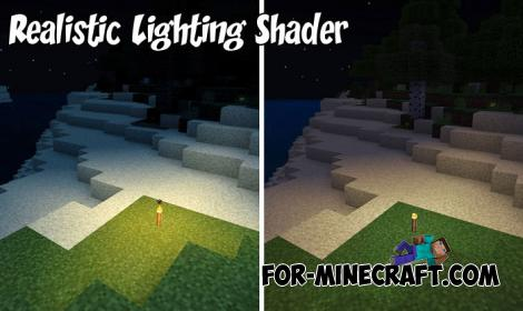 Realistic Lighting Shader for Minecraft PE 1.8+
