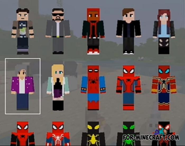 Spider-Man HD Skin Pack for Minecraft PE