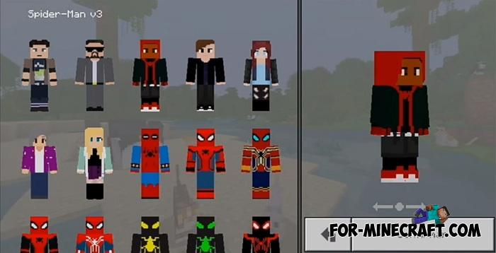 Spider-Man HD Skin Pack for Minecraft PE