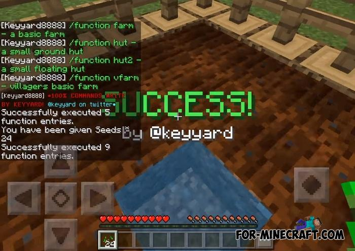 Essential Functions Addon for MCPE 1 9 0 5