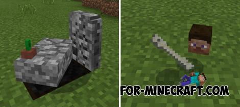 GraveStone Addon for Minecraft PE 1.9