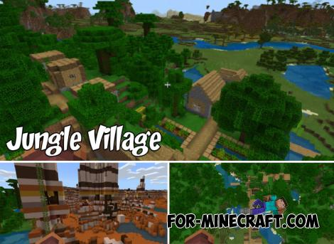 Jungle Village Seed for Minecraft PE 1.9+