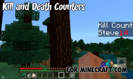 Kill and Death Counters Addon for Minecraft PE 1.9.0.3