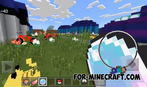 Pokemon Map & Addon & Resources for MCPE 1.9