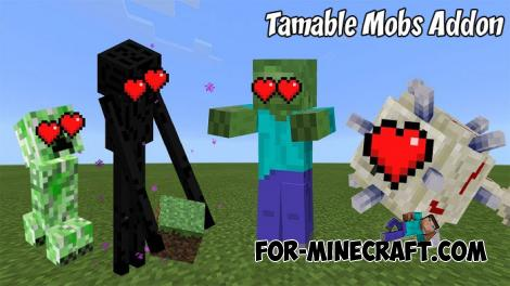 Tamable Mobs Addon for Minecraft PE 1.9.0.3