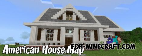 American House Map for MCPE