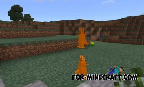 Kangaroos Addon for Minecraft PE 1.9
