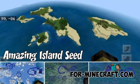 Amazing Island Seed for Minecraft PE 1.8
