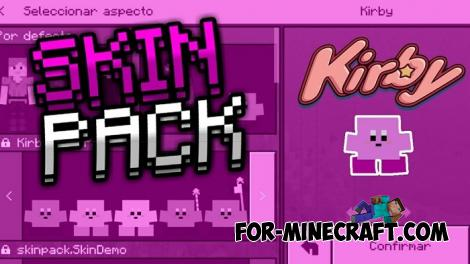 Kirby 4D Skin Pack for Minecraft PE