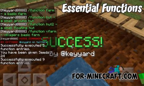 Essential Functions Addon for MCPE 1.9.0.5