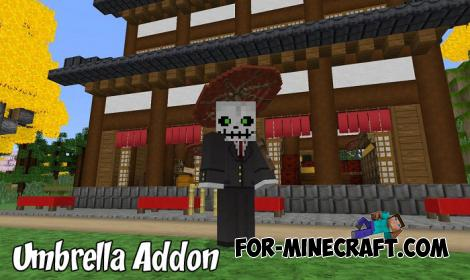 Umbrella Addon for Minecraft PE 1.9.0.5+