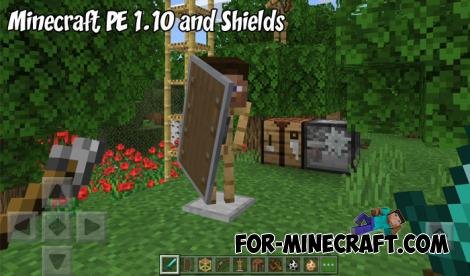 Minecraft PE 1.10 and Shields
