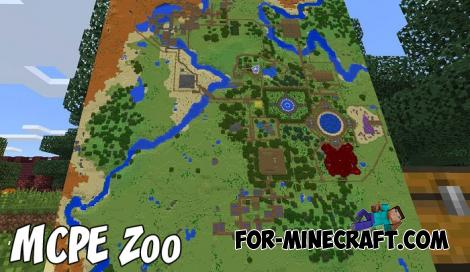 MCPE Zoo Map for Minecraft BE 1.9+